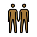 People Holding Hands: Medium-Dark Skin Tone on OpenMoji 12.3