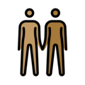 People Holding Hands: Medium Skin Tone, Medium-Dark Skin Tone on OpenMoji 12.3