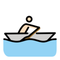 Person Rowing Boat: Light Skin Tone on OpenMoji 12.3