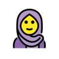 Woman with Headscarf on OpenMoji 12.3