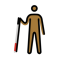 Person with White Cane: Medium-Dark Skin Tone on OpenMoji 12.3