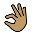 Pinching Hand: Medium Skin Tone on OpenMoji 12.3