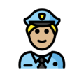 Police Officer: Medium-Light Skin Tone on OpenMoji 12.3