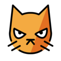 Pouting Cat on OpenMoji 12.3