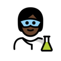 Scientist: Dark Skin Tone on OpenMoji 12.3