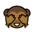 See-No-Evil Monkey on OpenMoji 12.3