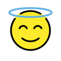 Smiling Face with Halo on OpenMoji 12.3