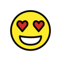 Smiling Face with Heart-Eyes on OpenMoji 12.3