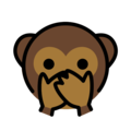 Speak-No-Evil Monkey on OpenMoji 12.3