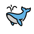 Spouting Whale on OpenMoji 12.3