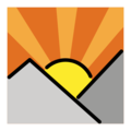 Sunrise Over Mountains on OpenMoji 12.3