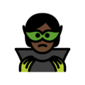 Supervillain: Dark Skin Tone on OpenMoji 12.3