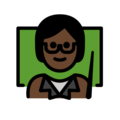 Teacher: Dark Skin Tone on OpenMoji 12.3