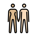 Woman and Man Holding Hands: Medium-Light Skin Tone, Light Skin Tone on OpenMoji 12.3