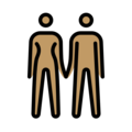 Woman and Man Holding Hands: Medium Skin Tone on OpenMoji 12.3