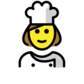 Woman Cook on OpenMoji 12.3