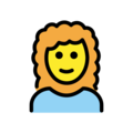 Woman: Curly Hair on OpenMoji 12.3