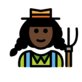 Woman Farmer: Dark Skin Tone on OpenMoji 12.3