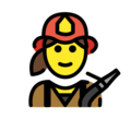 Woman Firefighter on OpenMoji 12.3