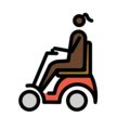 Woman in Motorized Wheelchair: Dark Skin Tone on OpenMoji 12.3