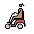 Woman in Motorized Wheelchair: Medium Skin Tone on OpenMoji 12.3