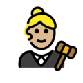 Woman Judge: Medium-Light Skin Tone on OpenMoji 12.3