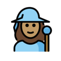 Woman Mage: Medium Skin Tone on OpenMoji 12.3