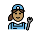 Woman Mechanic: Medium Skin Tone on OpenMoji 12.3