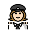 Woman Pilot: Light Skin Tone on OpenMoji 12.3