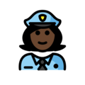 Woman Police Officer: Dark Skin Tone on OpenMoji 12.3