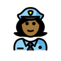 Woman Police Officer: Medium-Dark Skin Tone on OpenMoji 12.3