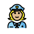 Woman Police Officer: Medium-Light Skin Tone on OpenMoji 12.3