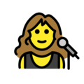 Woman Singer on OpenMoji 12.3