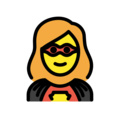 Woman Superhero on OpenMoji 12.3
