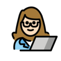 Woman Technologist: Light Skin Tone on OpenMoji 12.3