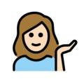 Woman Tipping Hand: Light Skin Tone on OpenMoji 12.3