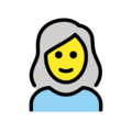 Woman: White Hair on OpenMoji 12.3