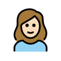 Woman: Light Skin Tone on OpenMoji 12.3