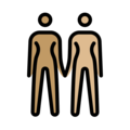 Women Holding Hands: Medium Skin Tone, Medium-Light Skin Tone on OpenMoji 12.3