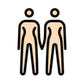 Women Holding Hands: Light Skin Tone on OpenMoji 12.3