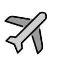 Airplane on OpenMoji 13.0