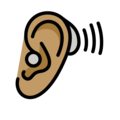 Ear with Hearing Aid: Medium Skin Tone on OpenMoji 13.0