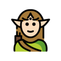 Elf: Light Skin Tone on OpenMoji 13.0
