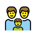 Family: Man, Man, Boy on OpenMoji 13.0