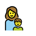 Family: Woman, Boy on OpenMoji 13.0