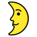 First Quarter Moon Face on OpenMoji 13.0