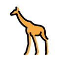 Giraffe on OpenMoji 13.0
