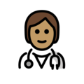 Health Worker: Medium Skin Tone on OpenMoji 13.0