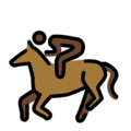 Horse Racing: Dark Skin Tone on OpenMoji 13.0