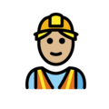 Man Construction Worker: Medium-Light Skin Tone on OpenMoji 13.0